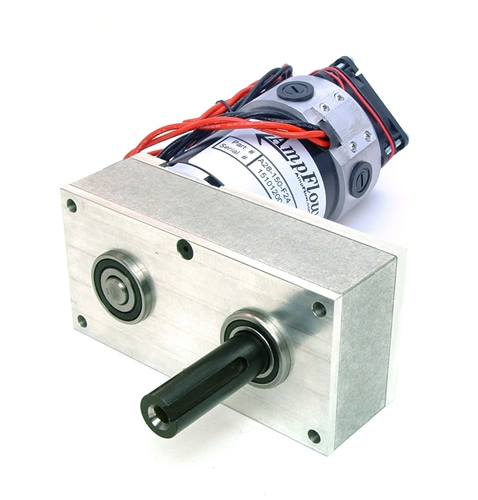 48V AmpFlow Fan-Cooled A28-150 Motor and Reducer