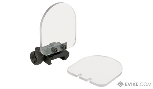 Flip-up QD Scope Lens / Sight Shield Protector (Weaver / Rail Mounted) by Matrix (2 lens) - Black
