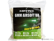 Matrix Match Grade 6mm Glow-in-the-Dark Airsoft Tracer BB (Model: 0.25g Green 2000rds)