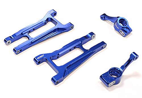 Integy RC Hobby C25809BLUE Billet Machined Rear Suspension Kit for Traxxas 1/10 Telluride 4X4 Trail Rig