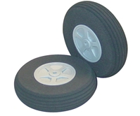 2 Inch Diameter Treaded Lite Flite Wheels 2pk