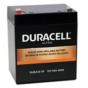Duracell Ultra 12V SLA Sealed Lead Acid 5AH Deep Cycle AGM Battery with F1 Terminals
