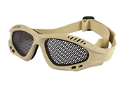 Avengers Zero Wire Mesh Adjustable Shooting Range Goggles - Tan