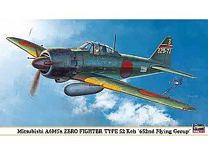 1/48 Mit A6M5a Zero Fighter 52  by Hasegawa