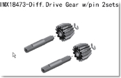 Diff Drive Gear w/pin 2sets