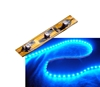 Self-Adhesive 2 inch 3 Lights LED Light Strip - Blue