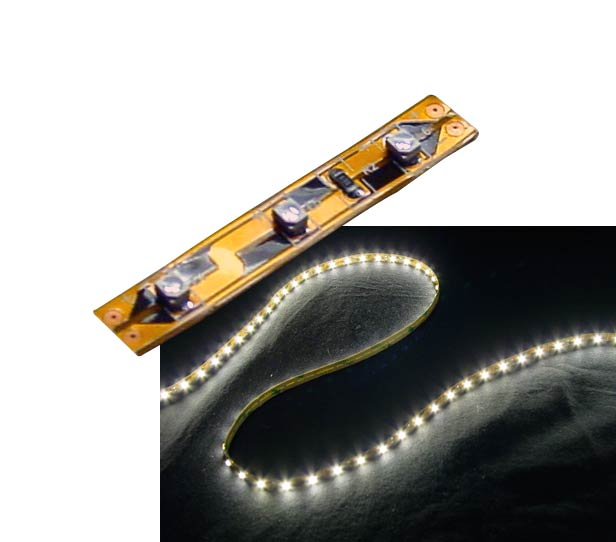 Self-Adhesive 2 inch 3 Lights LED Light Strip - Warm White