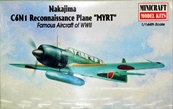 Minicraft Models MYRT Nakajima C6N1 Fighter Airplane Model Kit 1:144 Scale