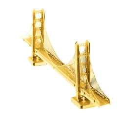 Metal Earth - GOLD San Francisco Golden Gate Bridge - Metal Sculpture Kit