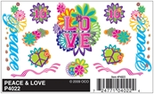Dry Transfer Decals, Peace & Love
