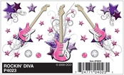 Dry Transfer Decals, Rockin Diva
