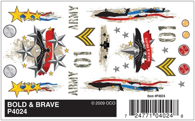 Dry Transfer Decals, Bold & Brave