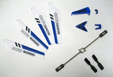 S107 BLUE SET (MAIN BLADE, TAIL DECORATION, BALANCE BAR AND TWO TAIL BLADES)