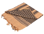 Matrix Woven Coalition Desert Shemagh / Scarves - Dark Brown/Black