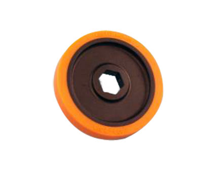 BaneBots T40  Wheel, 2-3/8 x 0.4in., 1/2in. Hex Mount, 40A Orange