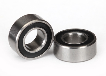 Ball bearings, black rubber sealed (5x10x4mm)