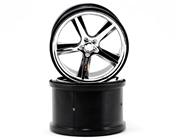 Traxxas 5372 Gemini 3.8 Chrome Wheel (2)