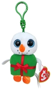 Shivers the Snowman Present - Beanie Baby Clip