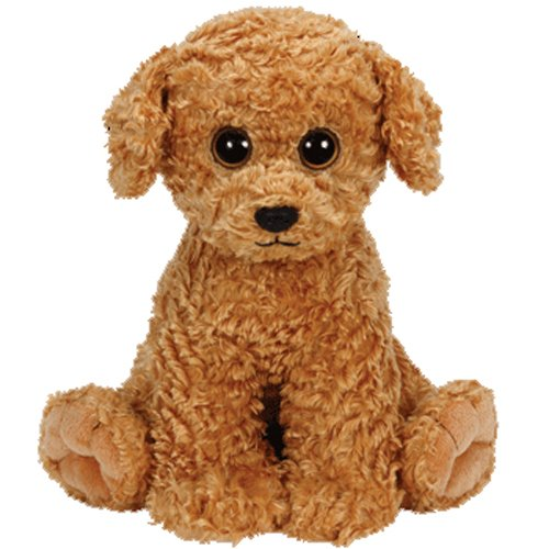 TY Luke Curly Brown Dog - Medium