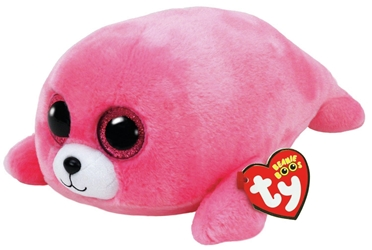TY Beanie Boos - Pierre the Pink Seal (Medium)