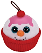 TY Snowman Ornament /Pink Icing