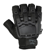 V-TAC Half Finger Plastic Back Gloves, Black XL/2XL