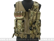 Deluxe Spec Op Cross Draw Tactical Vest with Holster & Mag Pouches - Land Camo LC Multicam