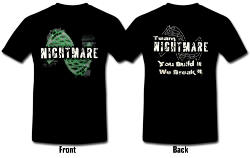Team Nightmare T-Shirt size XL